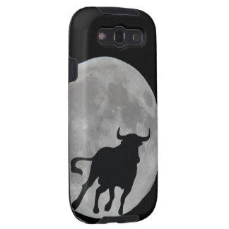 Luna Llena - Toro Bravo Corriendo - M1 Galaxy S3 Funda