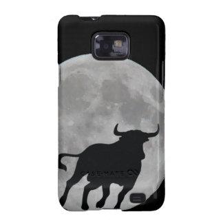 Luna Llena - Toro Bravo Corriendo - M1 Samsung Galaxy S2 Funda