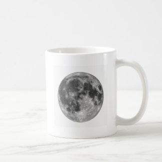 Luna Llena vista con el telescopio Taza De Café