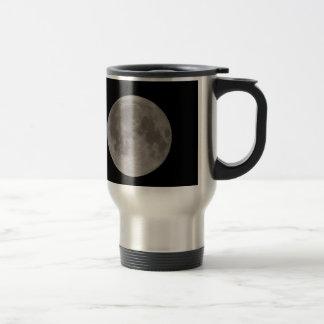Luna Llena vista con el telescopio Taza De Viaje