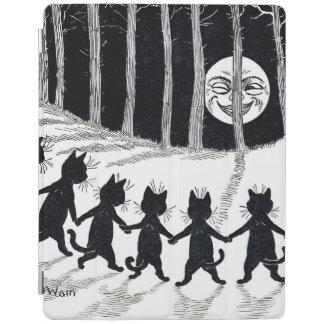 Luna Llena y gatos, Louis Wain Cubierta De iPad