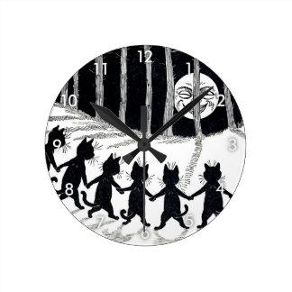 Luna Llena y gatos, Louis Wain Relojes De Pared