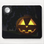 Luna Llena y Jack O'Lantern Mousepad Tapetes De Raton
