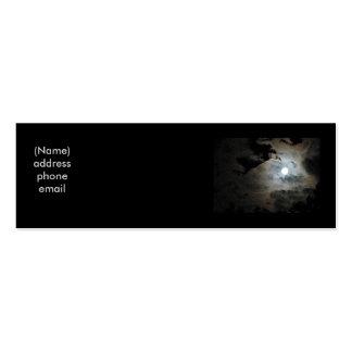 Luna Llena y nubes Tarjetas De Visita Mini
