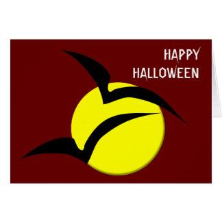 Luna Llena y tarjeta de encargo de Halloween de lo