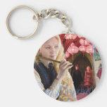 Luna Lovegood Montage Basic Round Button Keychain