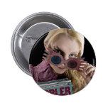 Luna Lovegood Peeks Over Glasses Button