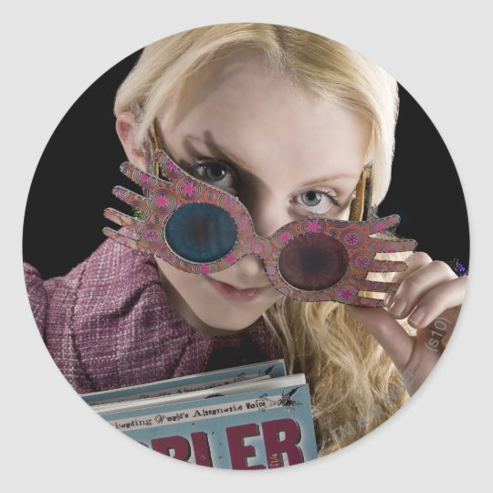 Luna Lovegood Peeks Over Glasses Classic Round Sticker