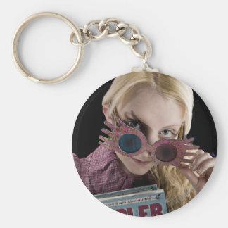 Luna Lovegood Peeks Over Glasses Keychains