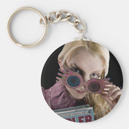 Luna Lovegood Peeks Over Glasses Basic Round Button Keychain