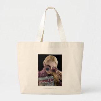 Luna Lovegood Peeks Over Glasses Large Tote Bag