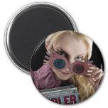Luna Lovegood Peeks Over Glasses 2 Inch Round Magnet