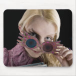 Luna Lovegood Peeks Over Glasses Mouse Pad