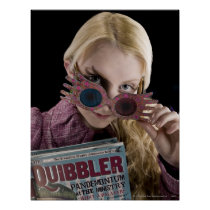 Luna Lovegood Peeks Over Glasses Poster