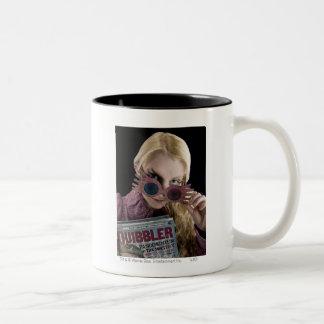 Luna Lovegood Peeks Over Glasses Two-Tone Coffee Mug