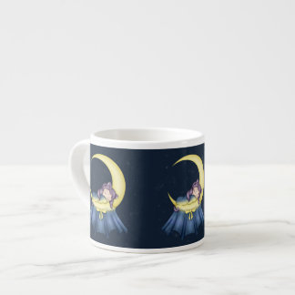 Luna Lullaby Cat Sleeping On The Moon Espresso Cup