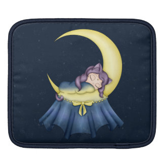 Luna Lullaby Cat Sleeping On The Moon Sleeve For iPads