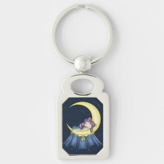 Luna Lullaby Cat Sleeping On The Moon Key Chains