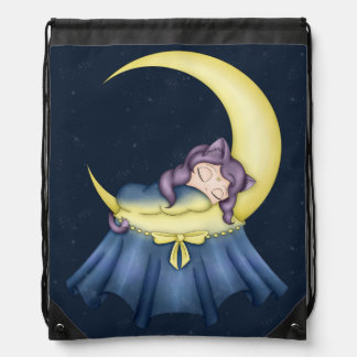 Luna Lullaby Cat Sleeping On The Moon Backpack