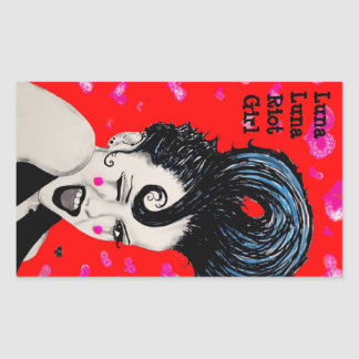 Luna Luna Riot Girl Hey Good Looking Slaps Rectangular Sticker