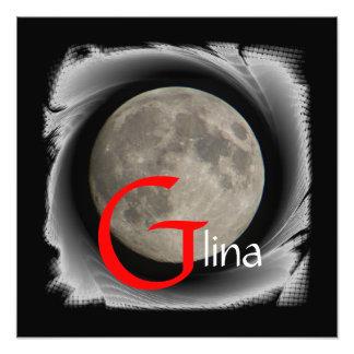 Luna Lune Luna Glina Moon póster Arte Con Fotos