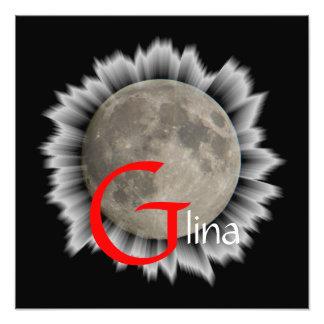Luna Lune Luna Glina Moon póster Fotografía