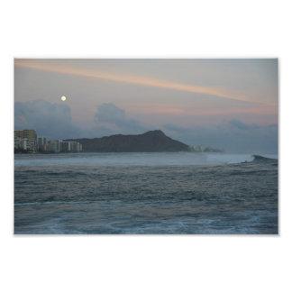 Luna mágica Hawaii de la isla Fotografía