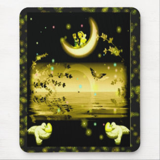 Luna mágica Mousepad Alfombrilla De Ratón