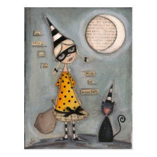 Luna mágica - postal del día de fiesta