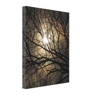 Luna mística impresión en tela