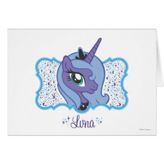 Luna Moon and Stars Card
