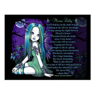 Luna Moon Lilly Myka Jelina Fairy Poem Postcard
