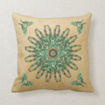 Luna Moth Abstract Mandala Pillow