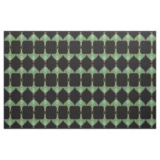 Luna Moth Abstract Pattern Fabric