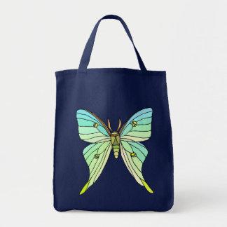 Luna Moth Canvas Bags