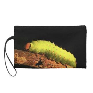 Luna Moth Caterpillar Wristlet Purse