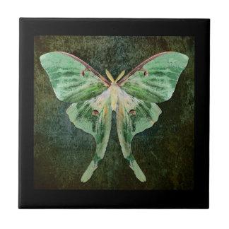 Luna Moth Ceramic Art Tile