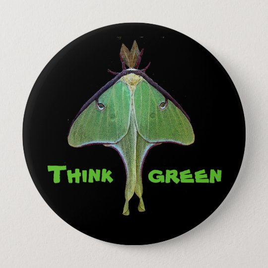 Luna Moth Earth Day Button