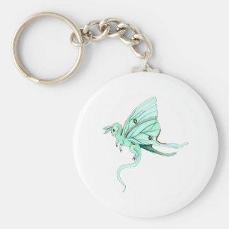 Luna Moth Fairy Dragon Basic Round Button Keychain