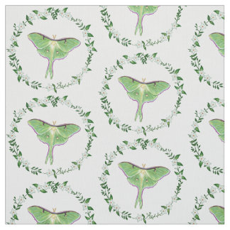 Luna Moth in Victorian sytle motif Fabric