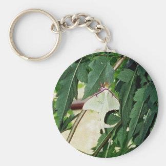 Luna Moth Basic Round Button Keychain