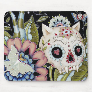 Luna Moth Kitty Scull Mouse Pad