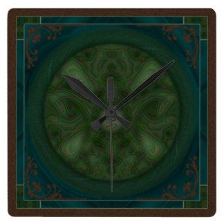 Luna Moth Mandala Clock