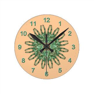Luna Moth Mandala Wall Clock