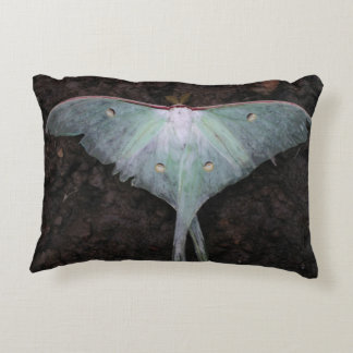 luna moth nature butterfly fairy fantasy dream accent pillow