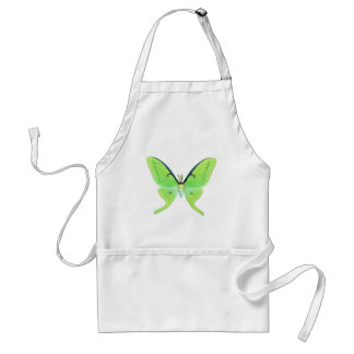Luna moth on a pale green background adult apron