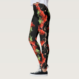 Luna Moth on Canna Flower customizable Leggings