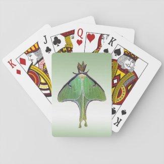 Luna Moth Playing Cards