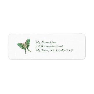 Luna Moth Return Address Labels