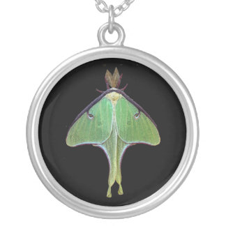 Luna Moth Silver Plated Necklace